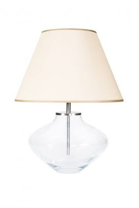 Lampa stołowa Bali Transparent stainless steel beige shade