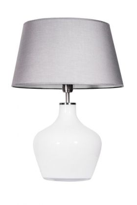 Lampa stołowa Madeira Opal stainless steel