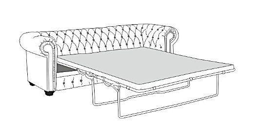 Super Sofa Chesterfield 3 z funkcją spania VG34